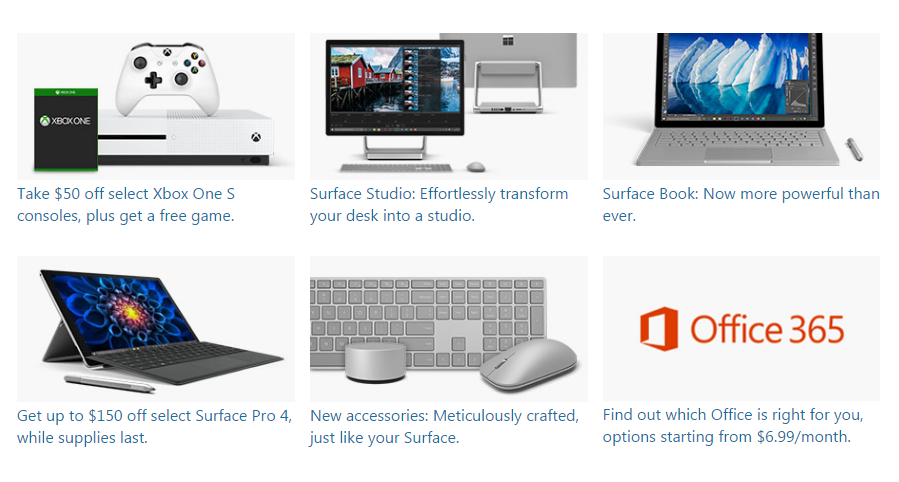 Microsoft 2017 Promo and Deals