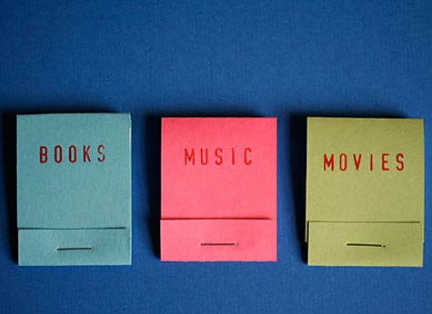 Books Movies Music